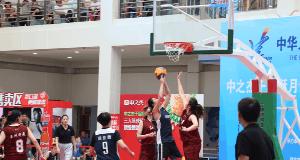 三人篮球赛在欧亚卖场震撼上演
