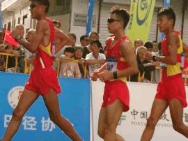 2017全国竞走锦标赛 吕梁选手荣登领奖台