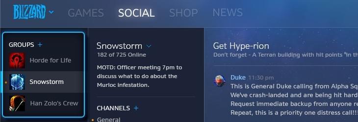 暴雪战网加入社交功能 享受全新的社交体验