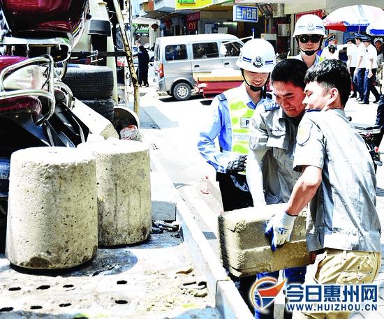 释放公共停车位!惠州交警两月清理占道物品3262件