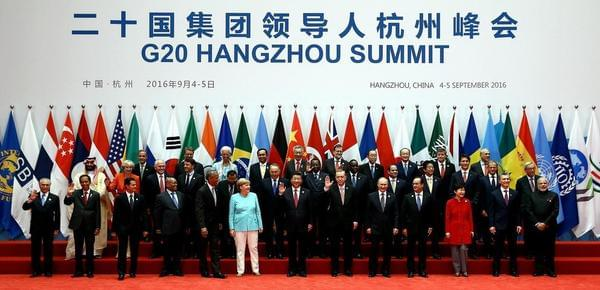G20峰会与会向导人拍摄大合影
