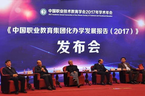 《中国职业教育集团化办学年度报告(2017)》在京发布