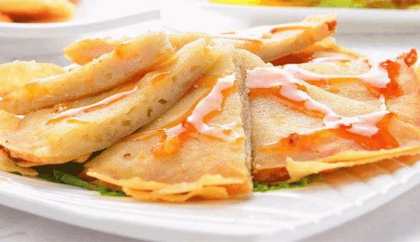 人气自制美食:月亮虾饼