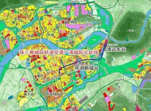 广清城轨北延线所设两站点图曝光......