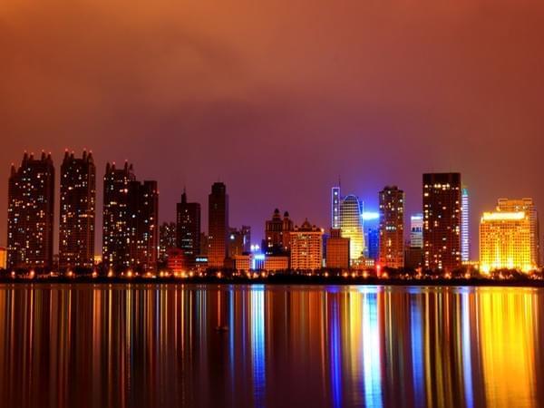 夜幕下的哈尔滨