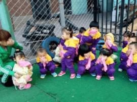 长春博众社区幼教学校组织儿童避难消险演练