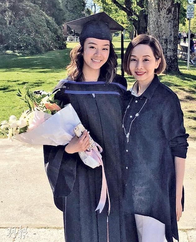 毛舜筠晒长女大学毕业照 蔡少芬恭喜称很感动