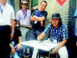 山西首届水彩艺术节写生展在太原美术馆开幕