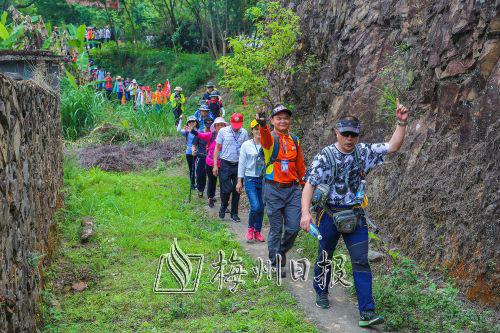 26公里追寻红色记忆!大埔举行南粤古驿道徒步活动