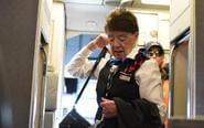 81岁的她成世上最年长空姐
