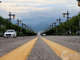 23日处暑:运城跨湖大道袅袅凉风起