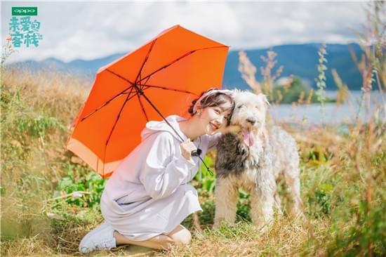 李菲儿与狗狗