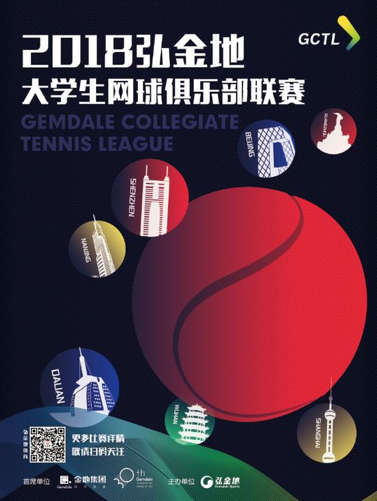 首届弘金地大学生网球俱乐部联赛6城72队报名启动