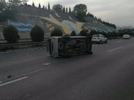 高速原平到石岭关段发生事故 过往车辆减速慢行