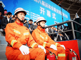 三门峡消防支队圆满完成第八届运动会保卫任务