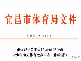 关于全宜昌市青少年阳光体育竞赛申办工作通知