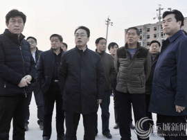 运城市委副书记、代市长朱鹏调研扬尘治理工作