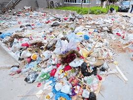 海陵为建筑垃圾找出路 11个临时堆放点已投入使用