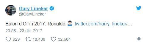 英媒选梅西为年度最佳球员 梅吹忍不住耸肩讽C罗