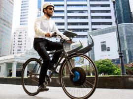 把自行车升级成电动版?只要换个前轮就行