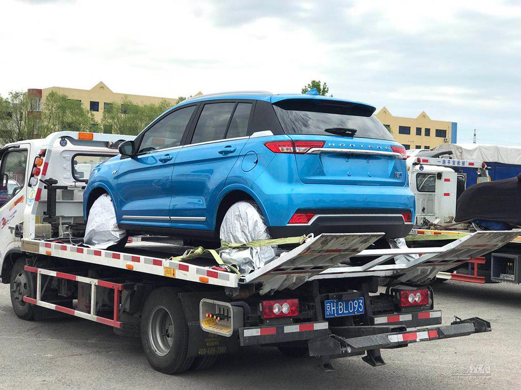 借鉴概念车设计 汉腾全新纯电动SUV曝光