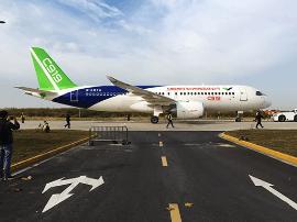 C919今转场西安阎良 跨越四省一市飞行1400多公里