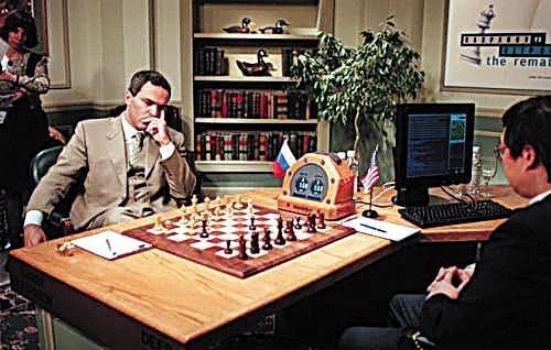 卡斯帕罗夫与深蓝对局。