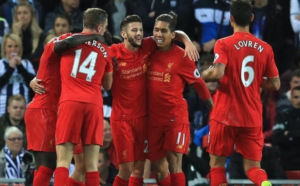 英超第9轮:利物浦2-1西布朗