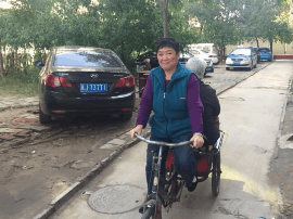 沧州:小小三轮车 满载婆媳情