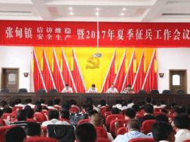 张甸镇召开信访维稳安全生产暨2017年夏季征兵工作会议