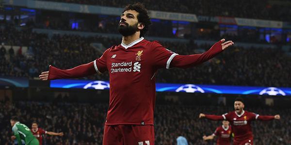 欧冠-萨拉赫破门 利物浦2-1双杀曼城进四强