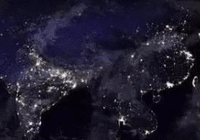 NASA全球夜间灯光地图上,为何印度灯光比中国还