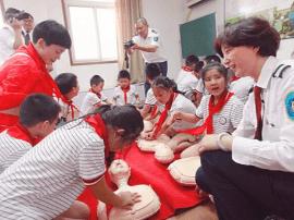 西陵区小学生零距离体验120急救