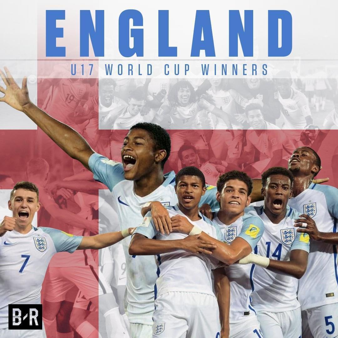 U17世界杯-英格兰0-2后5球大逆转5-2西班牙夺冠