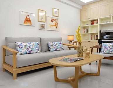 父母亲装85平欧式木质三居 儿童房成装修范本