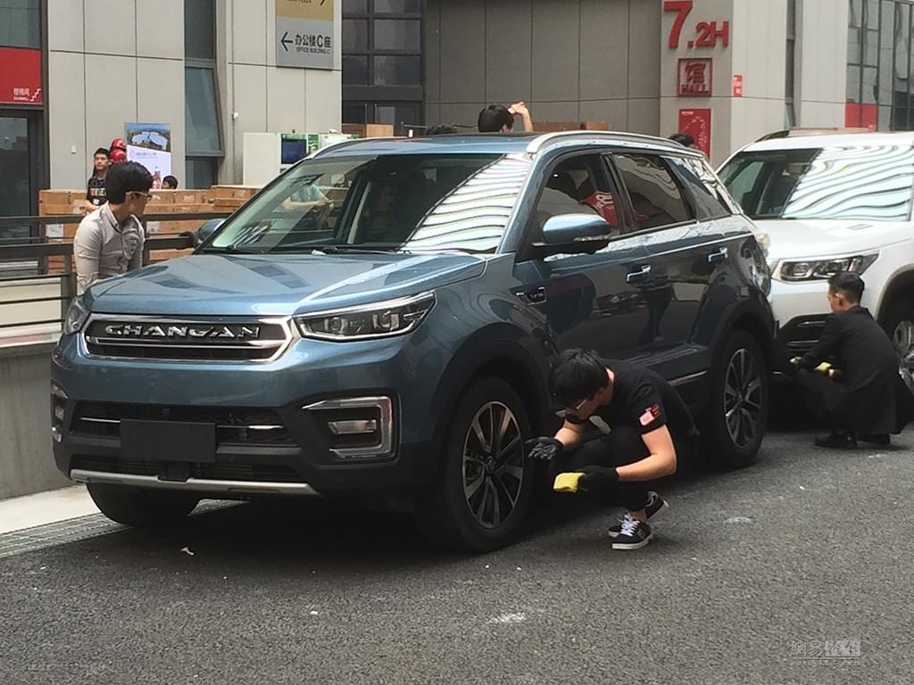 2017上海车展探馆:长安CS55实车首曝光