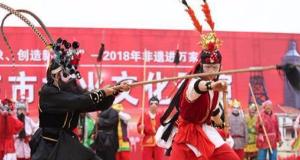 首届社火文化展演在井陉矿区举行