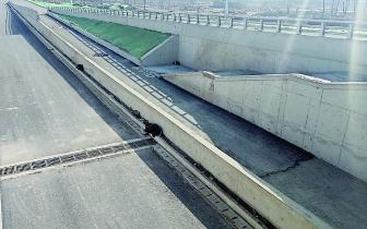 风峪河部分下穿主体已完工 未安装护栏