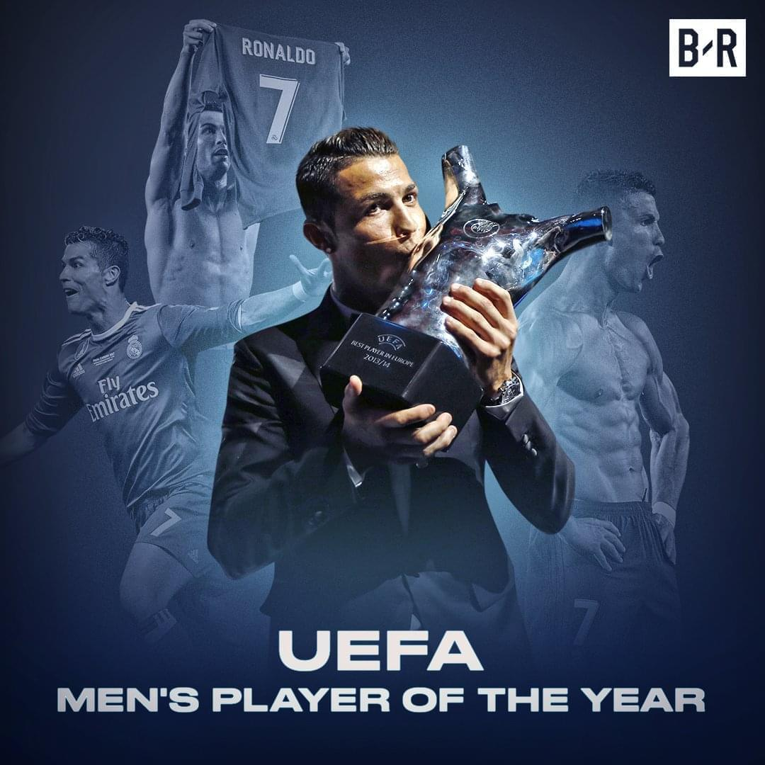C罗力压梅西布冯蝉联欧洲最佳球员 3次获奖超梅西
