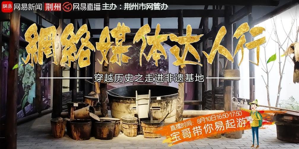 宝哥带全国知名网媒记者团探秘荆州非遗