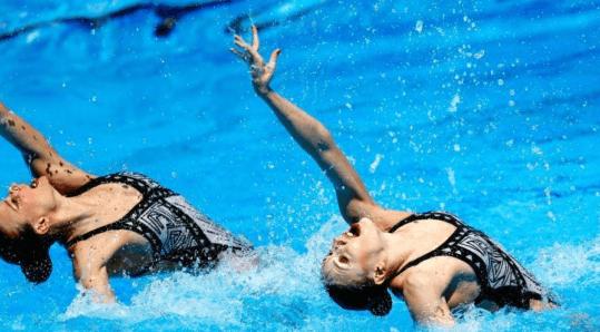 世锦赛花游双人自由技术预赛 文婷姐妹第2进决赛