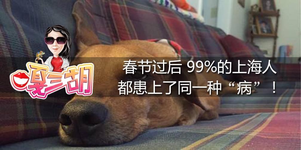 春节后 99%的上海人患上了同一种病!
