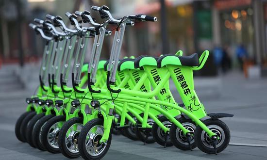 政府不鼓励共享电单车 小鹿单车宣布暂停运营