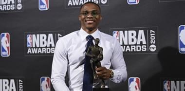 NBA首届颁奖礼:维斯力压哈登当选MVP