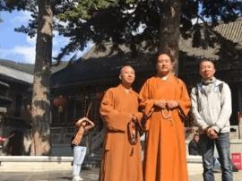 8.31加拿大中华寺照续法师一行参访五台山黛螺顶