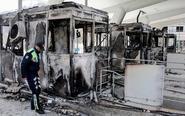 阿尔巴尼亚民众烧毁收费站