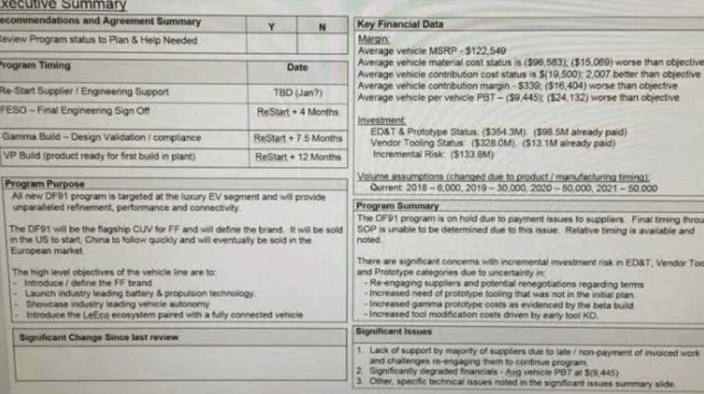 贾跃亭FF评估报告曝光:计划卖12万美元 2018年量产