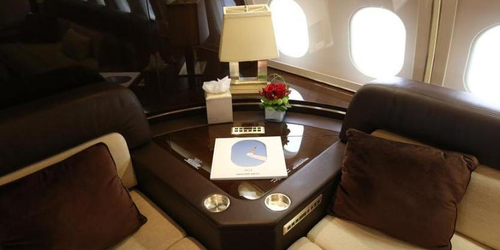 亚洲最大公务航空展上海举行 机舱内饰豪华