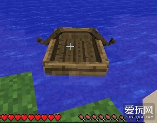 我的世界新收玩家如何做船在水里探索