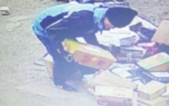 """长治:快递员取走包裹 派件疑似被""""顺手牵羊"""""""